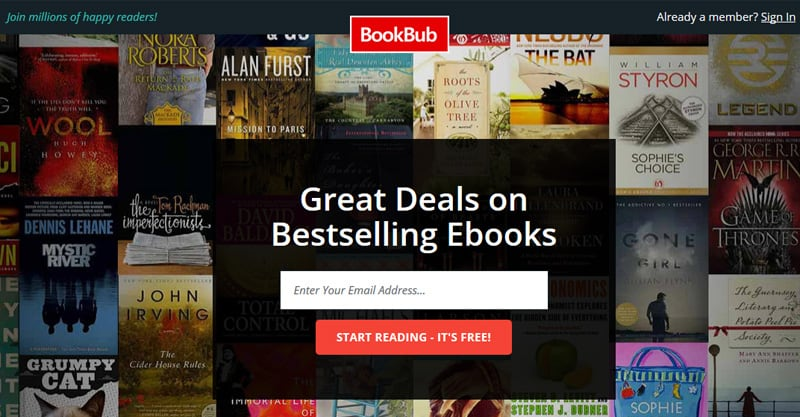 Advertising your author website on BookBub and other sites