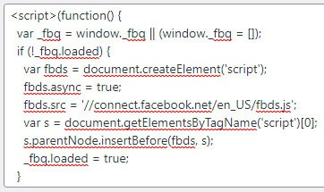 Old JavaScript code from header footer plugin