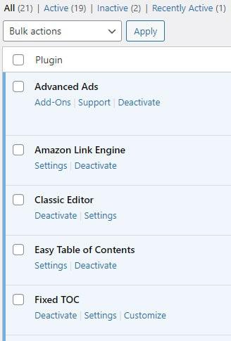 Less plugins speed up WordPress websites